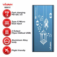 vivan powerbank 10rb mah pd support