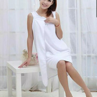handuk wanita/baju mandi wanita/kimono mandi warna putih stok TERBATAS