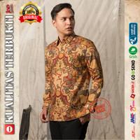Baju Kemeja Batik pria motif Tulis Seperti ATBM SUTRA Pesta BR10 - S
