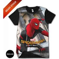Baju Spiderman Homecoming 3D Baju Grosir DEWASA #REG-05