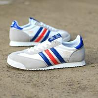 Sepatu Sneakers Casual Original ADIDAS DRAGON WHITE FRANCE