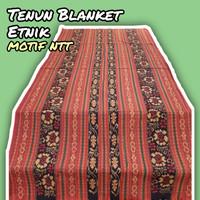 Kain Tenun Blanket Premium Ntt motif bunga