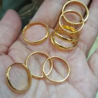 Cincin kawin polos emas asli 99% 24k 24 karat kuning 2gr 2gram 2 gram
