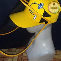 Topi Face Shield Anak Dino Korea Kuning