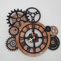 Jam Dinding Kayu Gear 002