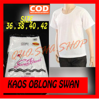 Kaos Dalam Oblong T-Shirt SWAN BRAND Size 34 36 38 40 42 - Putih, SIZE