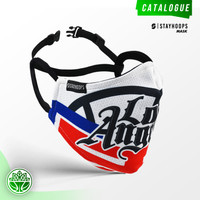 Masker Fullprint 2 Layer - LA Clippers (Tim NBA) - Stayhoops