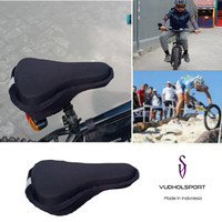 Bantal Jok Sarung Sadel Sepeda Empuk Bike 3D Gel Pad Saddle Reflektor