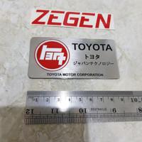 emblem plat mobil toyota kanji TEQ toyota motor corporation japan