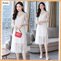 baju pesta wanita dress code vita brokat maxi brukat midi gaun putih
