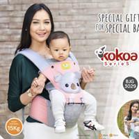 Baby joy -- gendongan depan hipset kokoa series premium quality