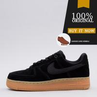 AA0287-002 Sneakers Original Sepatu Nike Air Force 1 '07 SE -Black/Gum