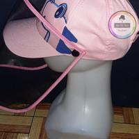 Topi Face Shield Anak Dino Korea Pink