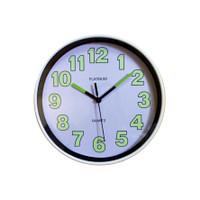 Jam Dinding Platinum Glow In The Dark Putih 20cm Free Baterai