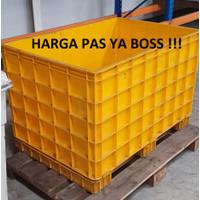 Rabbit Container Bak Pallet Plastik dengan kaki Kuning