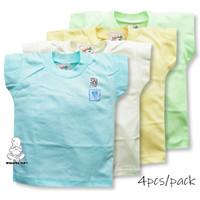 Baju kaos oblong anak bayi warna polos yang berbeda i-ol lengan pendek