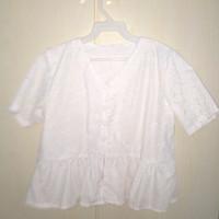 atasan baju wanita warna putih ukuran free size 001-MH