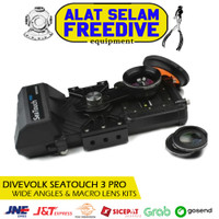 Divevolk SeaTouch 3 PRO Wide Angle Macro Lens Kits Housing Handphone - BLACK