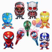 Balon foil karakter ultraman superhero iron captain spidey anak