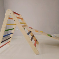 Pikler Triangle Toddler/ Mainan kayu untuk memanjat