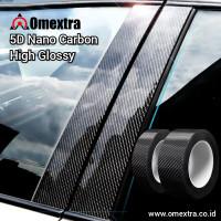 Nano Carbon 5D Sticker Omextra 5D Carbon Stiker Door Pilar Pintu Mobil