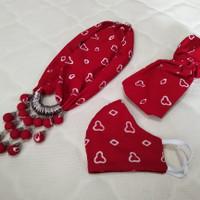 Kalung Batik set masker dan bandana