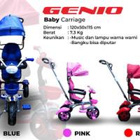 Sepeda Anak Roda Tiga Genio Baby Carriages Bangku Bisa Di Putar 180