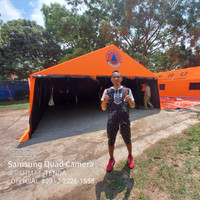 tenda posko serbaguna 6x8 komando/peleton bahan D300 shoop