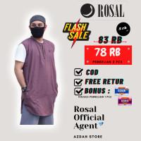 Baju Muslim Rompi Sholat Shalat Pria Rosal Kaos Oblong M L XL Big Size