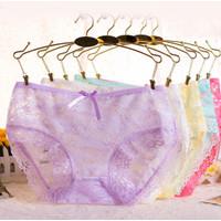 Celana dalam wanita import polos lace flower C - 003
