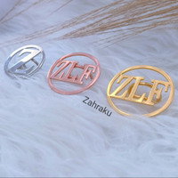 Bros ring hijab custom nama lapis emas aksesoris jilbab mewah premium