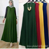 long dress plisket jumbo