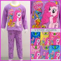 stelan kaos baju panjang piyama anak perempuan little pony unicorn