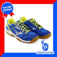 Sepatu Volly Mizuno CYCLONE SPEED 2 - Blue Silver Yellow