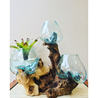 aquarium mini untuk ikan cupang (Kaca tiup) isi 3 uk15cm