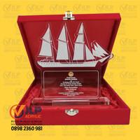 Trophy, Piala, Trophy Piala, Plakat, Piagam Acrylic 20x10 + BOX JL05