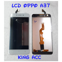 LCD TOUCHSCREEN OPPO A37 BLACK WHITE GOLD ORIGINAL