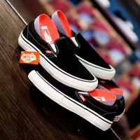 Sepatu Vans Slip-On Pro Black White Original Murah
