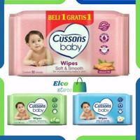 Cussons Baby Wipes Tissue Basah 50s+50s Beli 1 Gratis 1- Elco store