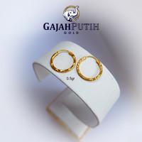 0,5gr Anting Model Gipsy Motif Batik Emas Asli kodeO405