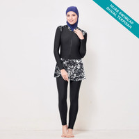 SYAREEFAH Ocean Burqini Swimsuit Baju Renang Muslim Wanita JUMBO SIZE
