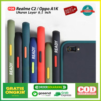 Casing Oppo A1K / Realme C2 Hard case Matte Colored Frosted Fuze Armor