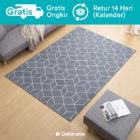 Dekoruma Taka Karpet Lantai Minimalis Motif Abu   Linori Room Carpet
