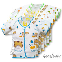 Baju anak bayi lengan pendek kancing depan motif printing allsize BL