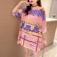 Kaos Pink PeACH Monokrom Baju Oversized Wanita Model Tangan Pendek