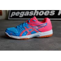 Sepatu Badminton Asics Gel Rocket tosca pink original bnwb