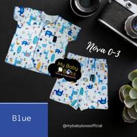 Baju Bayi/Nova/Unisex/Setelan Baju Bayi New Born/0-3 bln