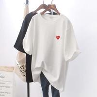 tshirt Kaos Baju Kerah PLAY CDG COMME D20ES GARCONS BLACK WHITE