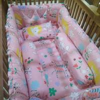 bumper box baby+bedcover+sprei set ukuran 70×120(motif bisa request)