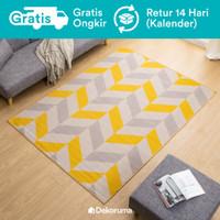 Dekoruma Haya Karpet Lantai Minimalis Motif Abu   Linori Room Carpet